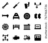 origami style icon set   wrench ... | Shutterstock .eps vector #767466736