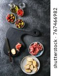 ingredients for making tapas or ... | Shutterstock . vector #767466982