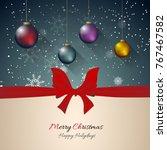 christmas celebration... | Shutterstock .eps vector #767467582