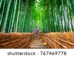 bamboo forest. asian woman... | Shutterstock . vector #767469778
