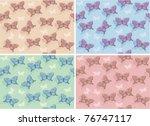 butterflies seamless patterns... | Shutterstock .eps vector #76747117