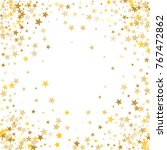 gold sparkling background with... | Shutterstock .eps vector #767472862