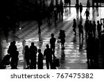 black image or shadow image of... | Shutterstock . vector #767475382