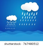rain and clouds  storm  | Shutterstock .eps vector #767480512