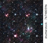 night galaxy space print ... | Shutterstock . vector #767480596