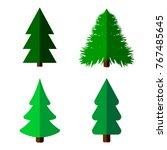set tree icons  christmas...
