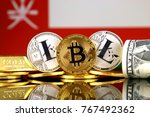 physical version of bitcoin ... | Shutterstock . vector #767492362