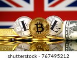 physical version of bitcoin ... | Shutterstock . vector #767495212