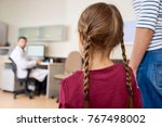 back view portrait of scared...   Shutterstock . vector #767498002