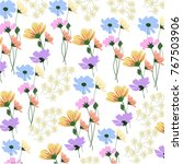 flower pattern leaf and nature | Shutterstock .eps vector #767503906