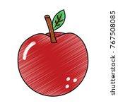 apple fruit delicious vitamins... | Shutterstock .eps vector #767508085
