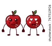 fruit kawaii icon image  | Shutterstock .eps vector #767513926