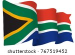 south africa flag waving... | Shutterstock .eps vector #767519452