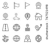 thin line icon set   pointer ... | Shutterstock .eps vector #767521498