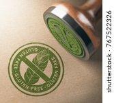 3d illustration of rubber stamp ... | Shutterstock . vector #767522326