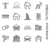 thin line icon set   lighthouse ... | Shutterstock .eps vector #767523862