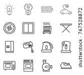 thin line icon set   bulb ...   Shutterstock .eps vector #767528872