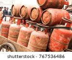 image of gas cylinder in... | Shutterstock . vector #767536486