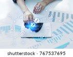 integration concept. industrial ... | Shutterstock . vector #767537695