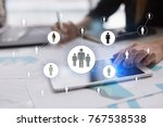 human resource management  hr ... | Shutterstock . vector #767538538