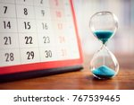hour glass and calendar concept ... | Shutterstock . vector #767539465