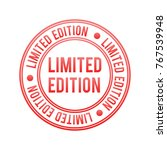 limited edition vector stamp   Shutterstock .eps vector #767539948