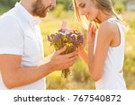 man doing on the nature... | Shutterstock . vector #767540872