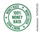 100   money back vector stamp   Shutterstock .eps vector #767545135