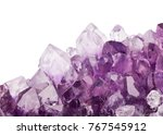 macro photo of lilac amethyst... | Shutterstock . vector #767545912