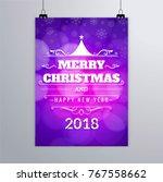 modern christmas brochure | Shutterstock .eps vector #767558662