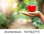 Small photo of heart on hand for concept philanthropy
