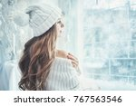 indoor portrait of young... | Shutterstock . vector #767563546