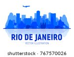 rio de janeiro  brazil  skyline ...   Shutterstock .eps vector #767570026