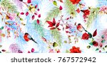 seamless background floral... | Shutterstock .eps vector #767572942