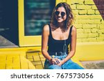 Cheerful Young Woman In...