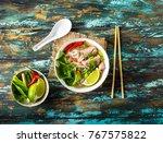 traditional vietnamese soup pho ...   Shutterstock . vector #767575822