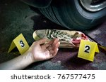 crime scene investigation... | Shutterstock . vector #767577475