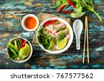 traditional vietnamese soup pho ... | Shutterstock . vector #767577562