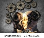 concept of machine learning to... | Shutterstock . vector #767586628