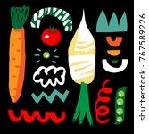 design for poster  card ... | Shutterstock .eps vector #767589226