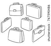 vector set of briefcase | Shutterstock .eps vector #767590486
