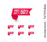 price cut shopping price tag | Shutterstock .eps vector #767591866
