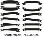 vector ribbons banners set | Shutterstock .eps vector #767600026