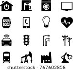 internet of things icons | Shutterstock .eps vector #767602858