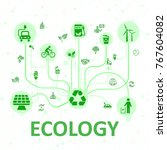 concept ecology system   stock... | Shutterstock .eps vector #767604082