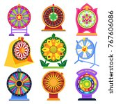 fortune wheel vector spin game... | Shutterstock .eps vector #767606086