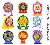 fortune wheel vector spin game... | Shutterstock .eps vector #767606086