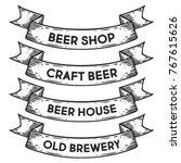 beer shop  craft beer house ... | Shutterstock .eps vector #767615626