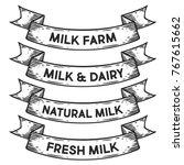 milk dairy farm  fresh milk... | Shutterstock .eps vector #767615662