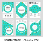 abstract vector layout... | Shutterstock .eps vector #767617492